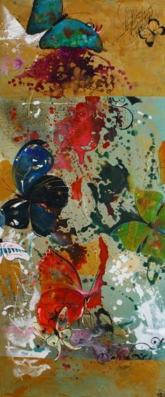 "Saatchi Art Artist Carole Bressan; Painting, ""Farandoles 1  (SOLD)"" #art"