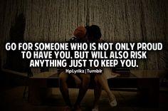 I'll risk anything.