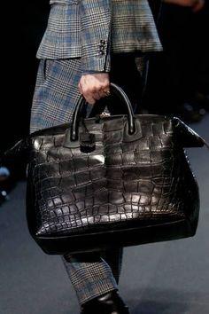 Crocodile bag, luxury leather bags for men