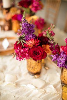 Fall wedding floral centerpiece | Amanda Hedgepeth Photography | http://burnettsboards.com/2013/11/classic-modern-hampton-roads-wedding/