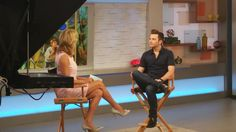 Hey there chriscolfer! He's with @LaraSpencer talking about his new book #TLOS4! (...and a game...)