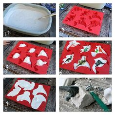 Try out this creative method of making dino fossils using plastic toys and silicone molds.