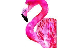 Flamingo 50x70 cm 197x275 inch by SofieRolfsdotter on Etsy