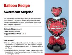Sweetheart Surprise — A balloon bouquet perfect for Valentine's Day.