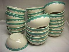 Buffalo China Green Crest  Bowls