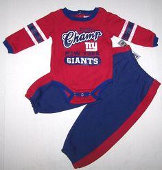 fba5823f6a4 Nwt New York Giants Football NFL Logo Set Outfit Top Pants Sweats Red Cute  Boy  NFLTeamApparel  NewYorkGiants
