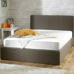 Versatile storage ottoman bed frame upholstered in a hazel fabric. Small Double x Double x King Size x or Super King x Manufactured by Emporia. Upholstered Bed Frame, Ottoman Bed, Beds For Sale, Double Beds, King Beds, King Size, Cheap Beds, Modern Beds, Stirling