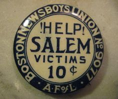 Rare Antique Pin Badge c.1914 Boston News Boys by StarPower99, $24.00