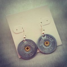 Simple shotgun shell earrings gem options by BulletBabeDesigns  Country Girl. Hunting. Country Wedding. Redneck Wedding. Fishing Jewelry. Bullet Jewelry. Redneck. Country Boy. Country. Deer Hunting. Fishing Girl. Browning. Camo. Realtree. Mossy Oak. Guns. Firearms. Shotgun Shell Jewelry. Archery. Bullet Ring. Bullet Earrings. Huntress. Bowhunting. Farm Girl. Farm Boy. 4H. FFA. Bullet Jewelry. Shotgun Shell Jewelry. Country Jewelry. Country Girl. Country Boy.