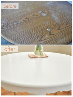 Tutorial: Painting a Kitchen Table (and how to protect paint job with wax finish