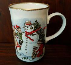 St. George Christmas Snowman Coffee Mug Fine Bone China Tea Cup | eBay Christmas Books, Christmas Snowman, Christmas Themes, Vintage Christmas, Christmas Gifts, Christmas Decorations, Bone China Tea Cups, I Love Coffee, Mug Cup