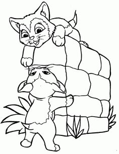 cat color pages printable DOG AND CAT COLORING PAGES Free