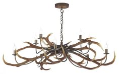 David Hunt STA2329 Stag 10 light pendant in highland rustic.