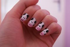Super cute cow nails. #nail_art #nails #manicures