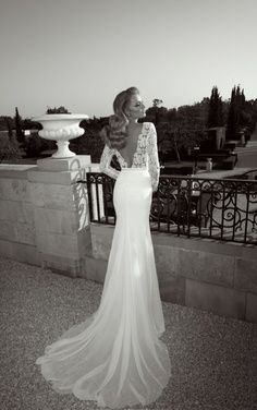 Perfection. Exactly how I want my dress, lace sleeves, with a low cut front and back