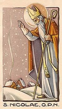 Everything about St Nicholas: stories, customs, crafts & more. Victorian Art, Victorian Christmas, Vintage Christmas Ornaments, Christmas Images, St Nicholas Day, Christmas In Europe, Prayer Service, Rosalie, Religion Catolica