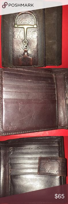 Gucci Wallet Men's Vintage Brown suede / leather Gucci Wallet with coin pouch 100% Authentic 6/10 condition Gucci Accessories