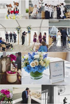 #nantucket #wedding with hydrangeas at the galley beach by Zofia & Co. Photography.