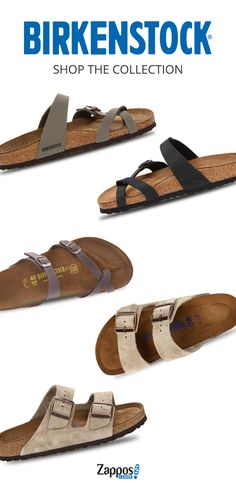 Shop great-looking sandals and shoes from Birkenstock on Zappos.com. Each pair is made of 100% natural and renewable cork. So, you can feel good that you are supporting your feet and the environment at the same time. Shop the collection today.