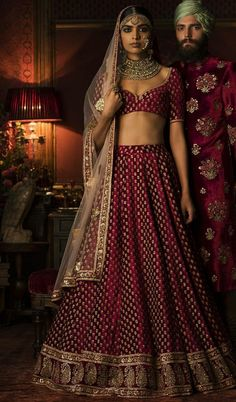 Exclusive Heavy Designer Beautiful Maroon Color Party Lehenga Choli Exclusive Heavy Designer Beautiful Maroon Color Party Lehenga Choli-STYLIZONE – Stylizone A beautiful blush pink gown with a heavily embellished bodice in pearls, beads, and se Indian Bridal Outfits, Indian Bridal Lehenga, Indian Bridal Wear, Indian Dresses, Bridal Dresses, Bridal Lenghas, Wedding Lehanga, Lehenga Style, Lehenga Collection