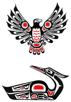 pacific_northwest_native_american_totem_USA_color_eagle_image009_Tattoo_Temple_The_Premier_Body_Art_Studio.jpg (311×450)