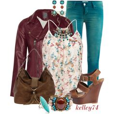 Colored Jeans for Spring, created by kelley74 on Polyvore