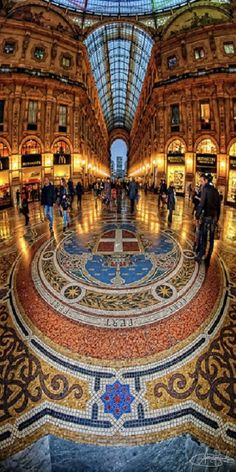 Galleria Vittorio Emanuele. The Galleria connects two of Milan's most famous landmarks: The Duomo and the Teatro Alla Scala, but is also a landmark in its own right.