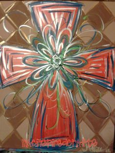 Hand Painted Cross Original Painting by MACInspiredCrafts on Etsy, $50.00