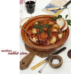 Rabbit In Red Wine In The Style Of Ischia Recipe — Dishmaps