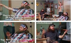 Duck dynasty quotes. Season 4.  Planning the wedding