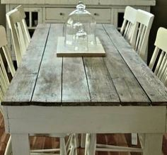 Dining table with old barn boards