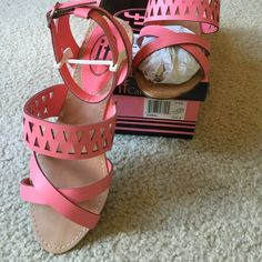 Cute summer pink Worn once. Brand new. It feels sticky at the ankle strips. It will be perfect if you can remove it with something. Comes with box. treadPayPal. If Carini Shoes Sandals