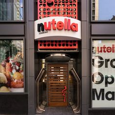 Inside America's First Nutella Cafe, Opening Next Week in Chicago Credit: Eater Nutella promised food lovers an immersive world of pure imagination when the makers of the hazelnut spread announced plans for America's first stand-alone Nutella Cafe. The cafe opens on May 31 near Millennium Park at 189 N. Michigan Ave., but you can take