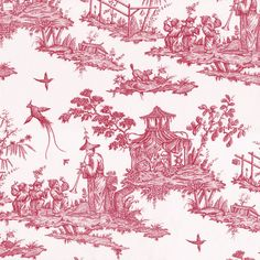 lecon lesson danse chinoiserie chinese chinois pagode pagoda pillement rose framboise pink raspberry