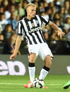 Frederik Sorensen of Juventus in action during the preseason friendly..