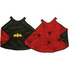 You no longer need to worry about choosing which superhero to be.  The Batman Spiderman Reversible Cape solves this issue.  You can be either one. Ages 3 to 6 years.