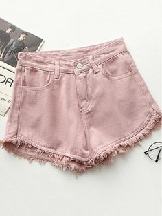 Ripped frayed Edge denim shorts women high waist short jeans feminino pockets black white shorts jeans 2017 summer short femme We offers a wide selection of trendy style women's clothing. Affordable prices on new tops, dresses, outerwear and more. Black And White Shorts, White Jean Shorts, Black Denim, Black White, Black Milk, Hot Shorts, Casual Shorts, Denim Shorts, Women's Jeans