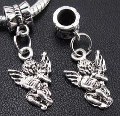 Awesome Tibetan Silver Cherub Angel Charm With Bail #174 $4.95