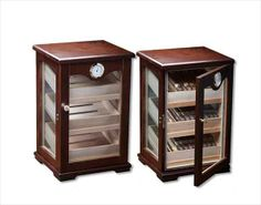 Prestige Import Group 'The Milano' Countertop Display Humidor Cheap Countertops, Laminate Countertops, Concrete Countertops, Kitchen Countertops, Cigar Humidor Cabinet, Diy Cigar Humidor, Cigar Bar, Cigar Cases