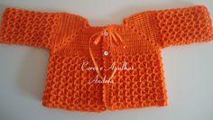 Casaquinho Marla -  Casaquinho em croche para bebe - Free Pattern