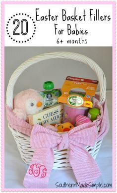 20 items for babys first easter basket easter baskets easter 20 easter basket filler ideas for babies negle Gallery