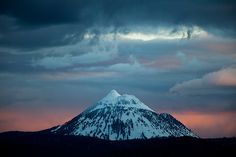 Black-Butte-Sunset  by Mark Stensaas