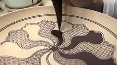 上出長右衛門窯の祥瑞画法/Drawing and Painting Kutani Shonzui