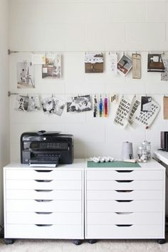 Creative art studio organization ideas for workspace desks 29 small workspace, workspace desk, office Workspace Desk, Small Workspace, Home Design Decor, House Design, Home Decor, Ikea Design, Design Design, Craft Room Design, Design Ideas