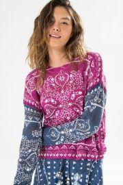 sweater mix lenço fleori