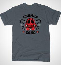 Goomba Gang T-Shirt - Super Mario Bros T-Shirt is $12 today at Busted Tees!