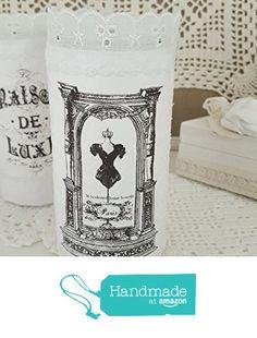 Windlicht ' Mode' Vase shabby von der Dragonflys Home https://www.amazon.de/dp/B01MTYRFCB/ref=hnd_sw_r_pi_dp_rcrtyb8V3B88S #handmadeatamazon
