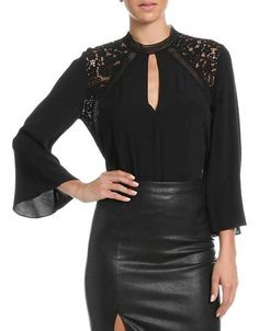 Bardot Phoebe Blouse Women's Black Medium