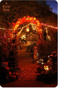 Cool idea for outdoor Halloween party.