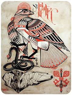 My favorite David Hale tattoo design. Would love to have this one on my back.